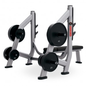 LT-6025---Olympic bench weight storage equipment
